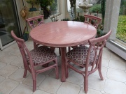 Table Fontaine Ronde En 110 - 2 Allonges -